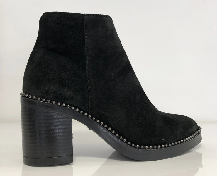 Alpe, black suede ankle boot