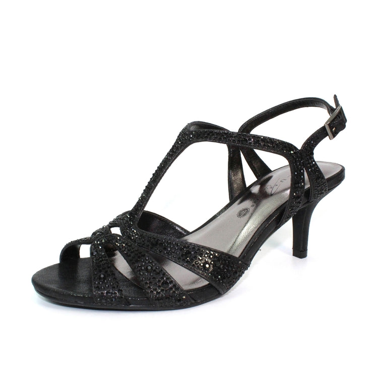 LUNAR Francie Code: FLR524| Women's Wide Fit Gemstone Sandal | Black - Available at victoriagraceshoes.com | In Store 01670 511066 Victoria Grace Shoe Collection | Morpeth | 14 SANDERSONS ARCADE, Morpeth NE61 1NS