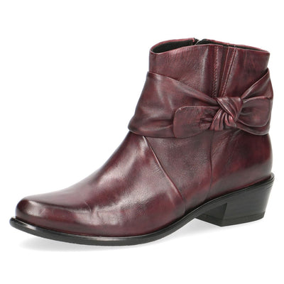 Caprice, Jessica, burgundy ankle boot