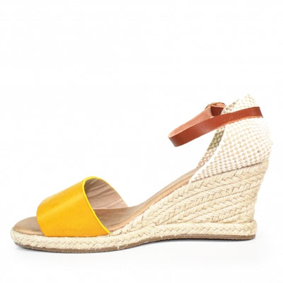 Luna Shoes | Lunar Detroit Yellow | Summer Espadrille Wedge | Available at victoriagraceshoecollection.com | In Store Victoria Grace Shoe Collection | Morpeth | 14 SANDERSONS ARCADE, Morpeth NE61 1NS