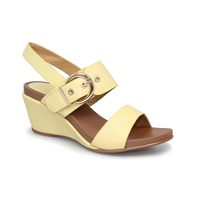 LUNAR Libby | Women's Wedged buckle Sandle in Yellow | Available at victoriagraceshoes.com | In Store 01670 511066 Victoria Grace Shoe Collection | Morpeth | 14 SANDERSONS ARCADE, Morpeth NE61 1NS