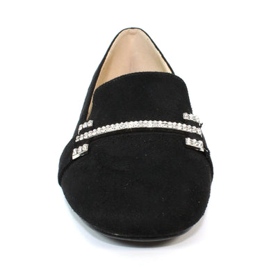 Lunar Shoes Beattie Rhinestone Loafer In Black | Available at victoriagraceshoes.com | In Store 01670 511066 Victoria Grace Shoe Collection | Morpeth | 14 SANDERSONS ARCADE, Morpeth NE61 1NS