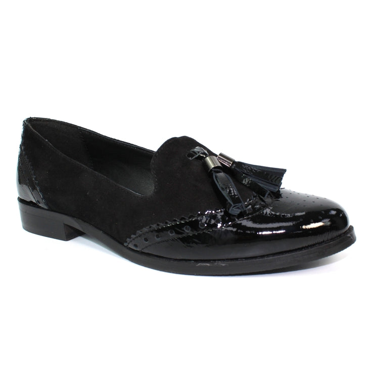 Luna Shoes | Women's Black Tassel Loafer | Available at victoriagraceshoes.com | In Store 01670 511066 Victoria Grace Shoe Collection | Morpeth | 14 SANDERSONS ARCADE, Morpeth NE61 1NS
