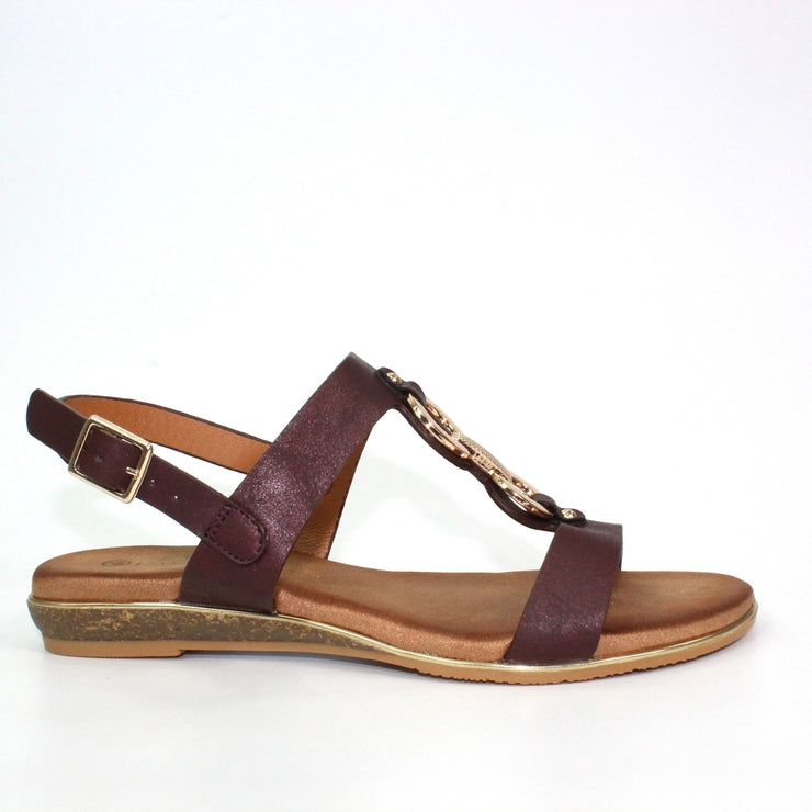 Lunar Shoes | Maldives Ladies 'T Bar' Sandal In Burgundy - Available at victoriagraceshoes.com | In Store 01670 511066 Victoria Grace Shoe Collection | Morpeth | 14 SANDERSONS ARCADE, Morpeth NE61 1NS