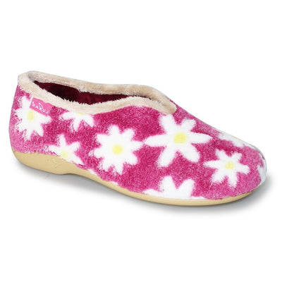 Luna Shoes | Daisy Flower Slipper | Daisy Flower Pattern in Pink Available at victoriagraceshoecollection.com | In Store Victoria Grace Shoe Collection | Morpeth | 14 SANDERSONS ARCADE, Morpeth NE61 1NS