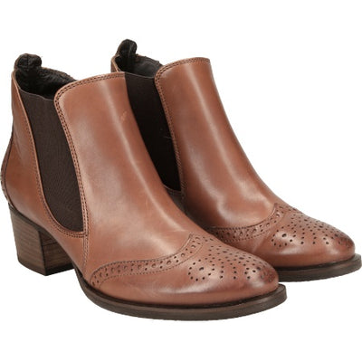 Paul Green, brown leather ankle boots