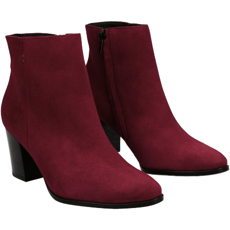 Paul Green, Samtziege Chili, red suede ankle boot