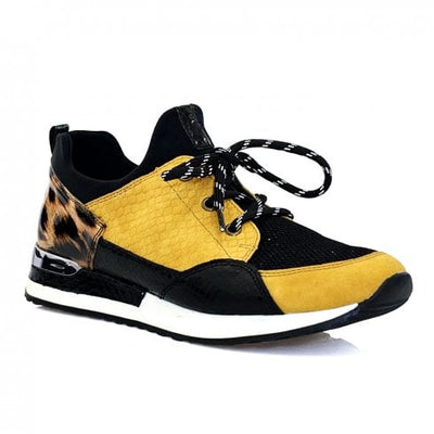 Remonte, Laurie, black and yellow trainer