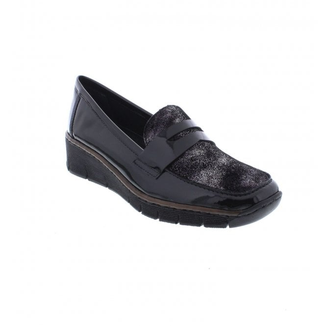 Rieker, Ettie, black casual shoe
