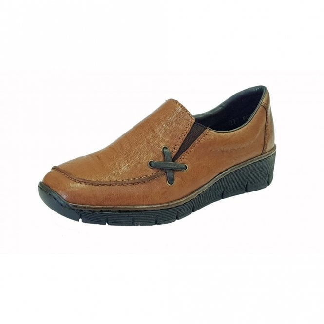Rieker, Lena, brown casual shoe