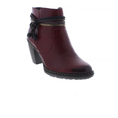 Rieker Abigail, red ankle boot