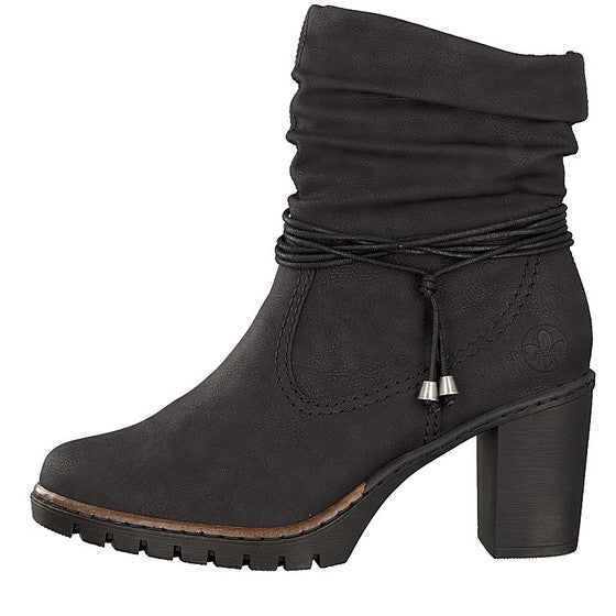 Rieker, Minnie, black high ankle boot