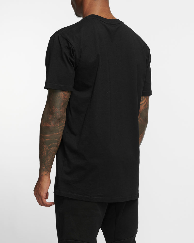 Line Break - Black Tee