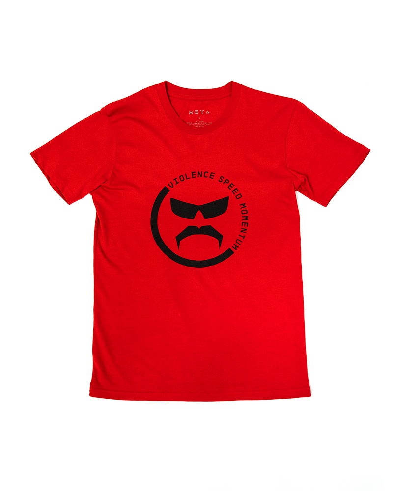 Line Break - Red Tee