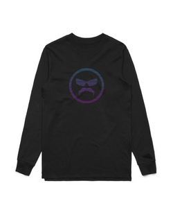 Logo Gradient - Black Long Sleeve