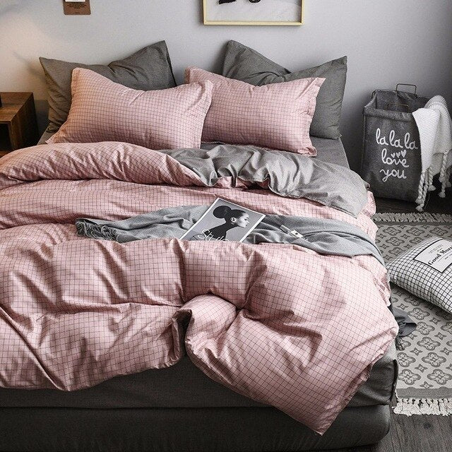 Bedclothes Solid Simple Bedding Set - HeadlineBedding