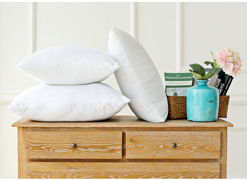 Classic 9 size Solid Pure Cushion  Pillow - HeadlineBedding