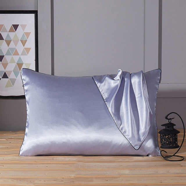 "Silk Pillowcases  Pillow Case without Zipper for Hair and Skin Hypoallergenic 48x74cm (19x29"") - HeadlineBedding"
