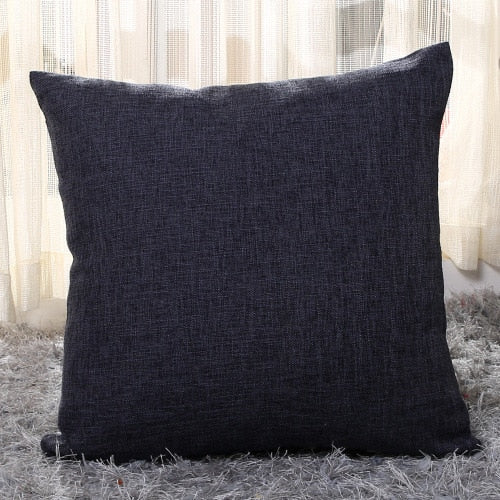 Solid Linen/Cotton Cushion Cover - HeadlineBedding