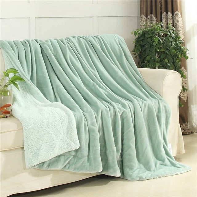 Thick warm Throws Plaids Double-sided - HeadlineBedding