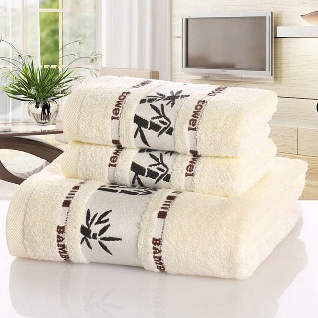 Bamboo Fiber Towels Set