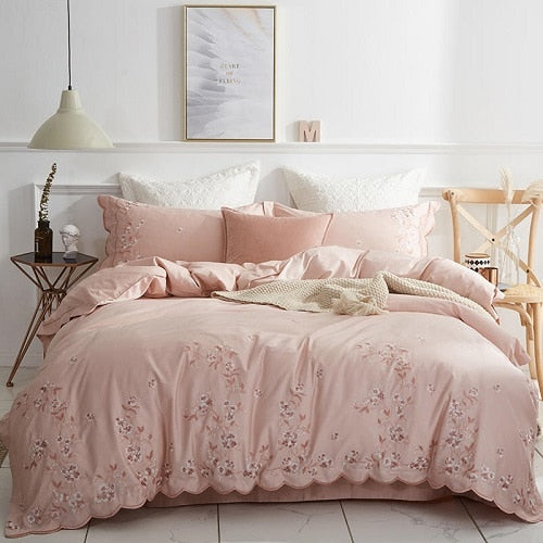 Egyptian Cotton Design Bedding Set Luxury  Embroidered