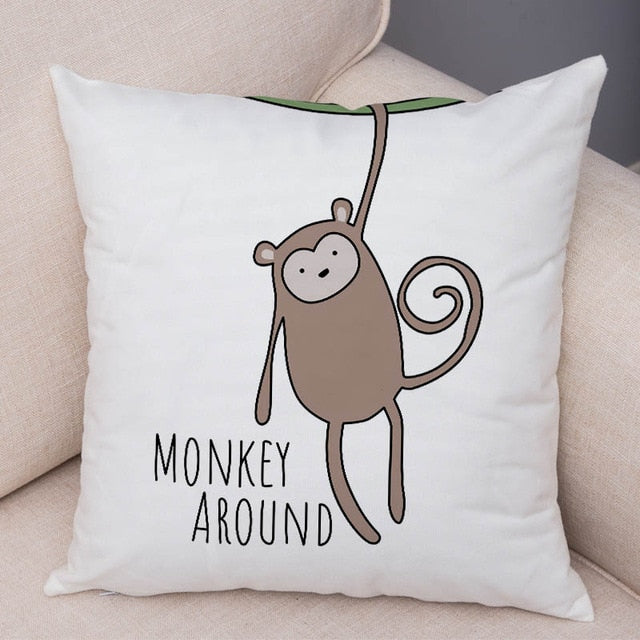 Pillow Case Decor Animal Cushion Cover for Sofa  Pillow Covers 45x45cm - HeadlineBedding