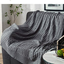 100% Cotton Solid Knitted Blanket Nordic Simplicity - HeadlineBedding