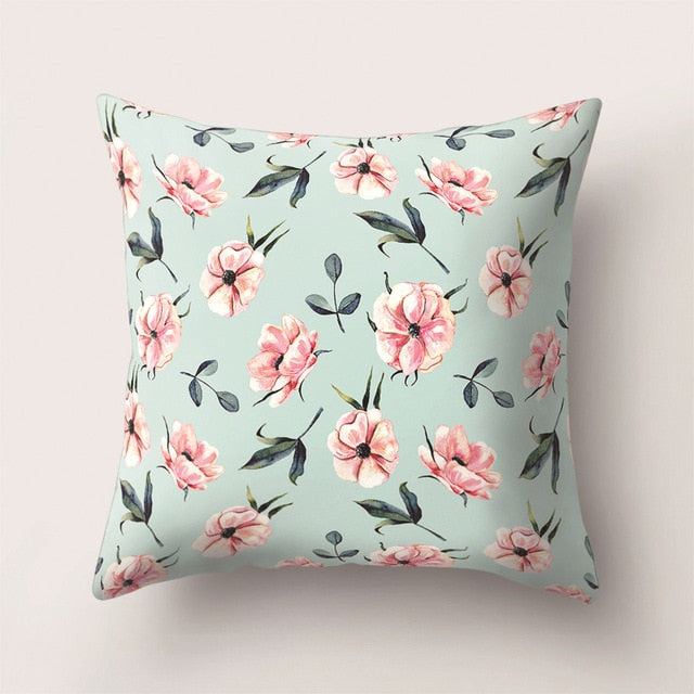 Single-sided Printed Pillowcase Plant cushion