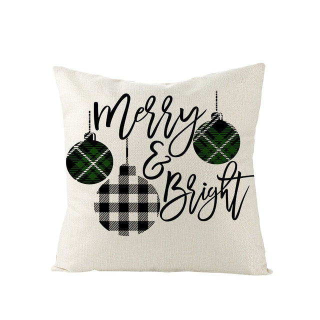 Christmas cushion cover  Cotton Linen pillow covers - HeadlineBedding