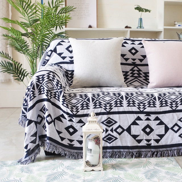 Decorative Knitted Cotton Soft Blanket - HeadlineBedding