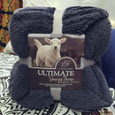 Large Warm Thick Sherpa  Blanket Weighted Coverlet for Bed or Couch