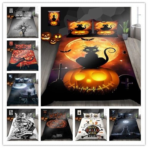 3D Halloween Pattern Bedding Sets Hot Sale Halloween - HeadlineBedding