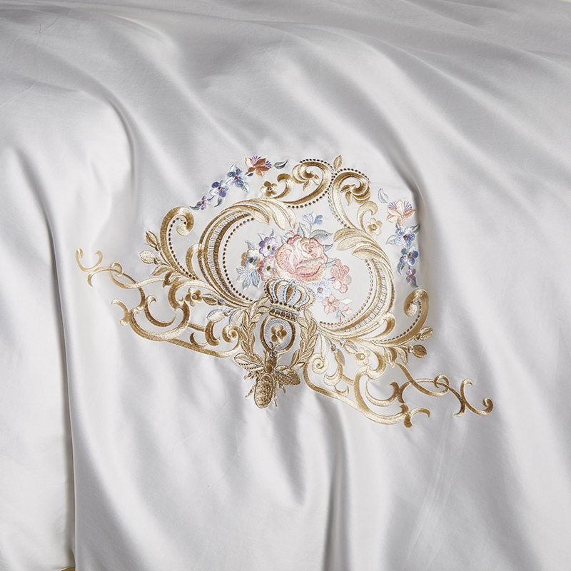 Egyptian Cotton Royal Luxury Bedding Set White