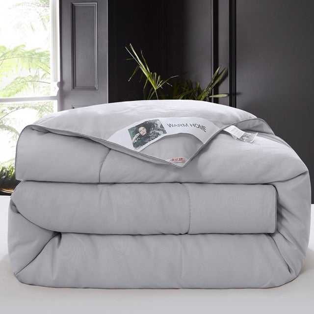 Silk quilts warm winter  quilted bed comforter - HeadlineBedding