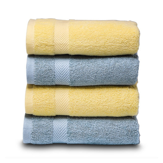 Hand Towel Premium Set for Bathroom, Cotton High Water Absorption Soft & Fade-Resistant