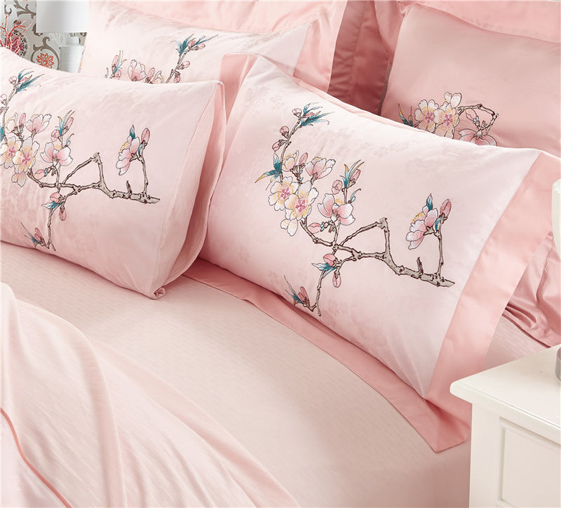 Luxury Egyptian Cotton Embroidered Bedding sets