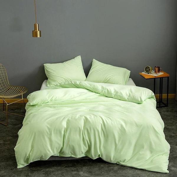 Solid Super Soft Duvet Cover Set 12 Color - HeadlineBedding