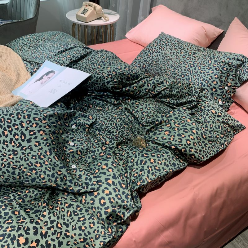 Egyptian Cotton Leopard print Bedding Set