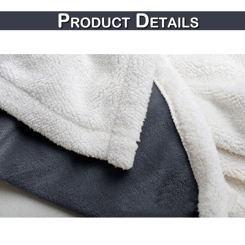 Winter Wool Throw Blankets For Beds Warm Soft Sheep Velvet Flannel Plush Blanket