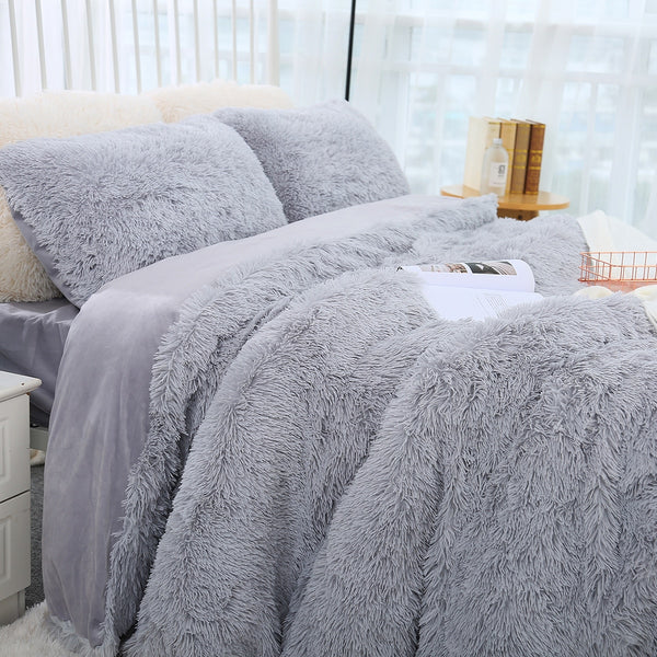 Soft Flannel Blanket Warm Long Shaggy Fuzzy Blanket Fur