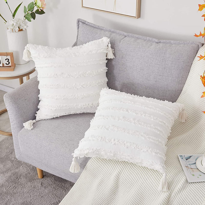 Square Pillow Cases  White Cushion Cover