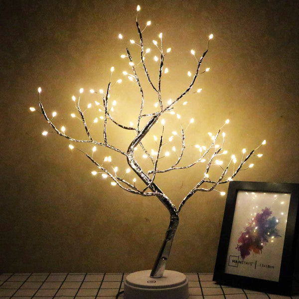 LED USB Artificial Light Tree Lamp Touch Switch Tabletop Bonsai Tree Light