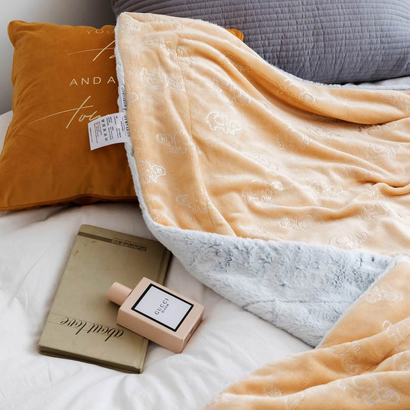 Embossed Blankets Thick Winter Fleece Throws Sheets - HeadlineBedding