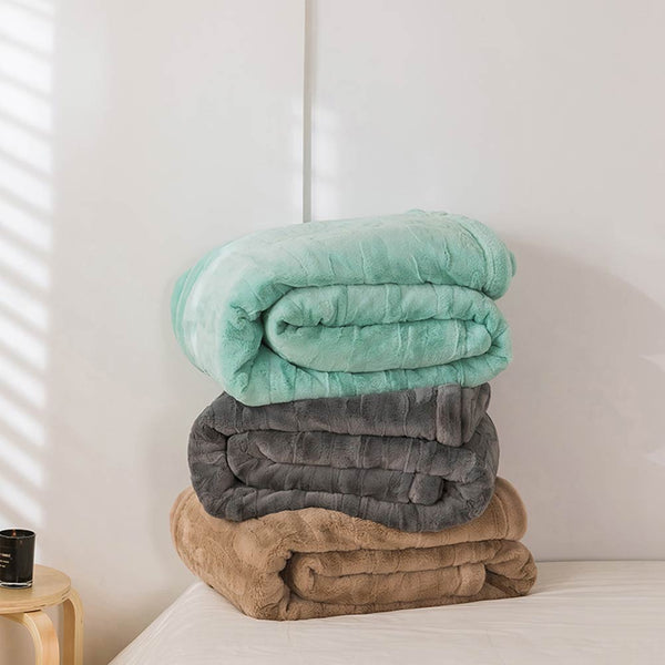 Soft Thick Winter Blankets Throws Double-side Plaids Bedsheet