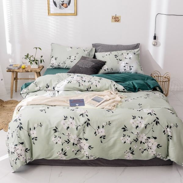 100% Cotton Bedding Sets Small Flowers - HeadlineBedding