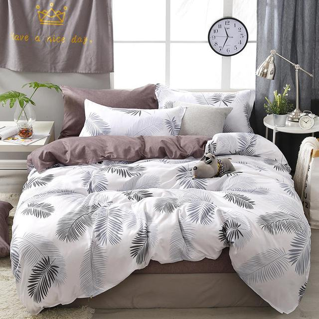 Plant / Flower printed bed linens set - HeadlineBedding
