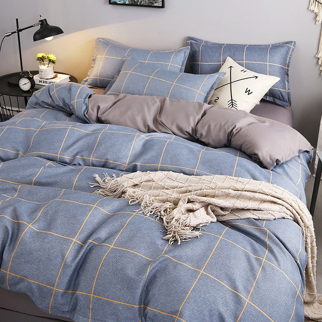 Simple Four-Piece Washed Cotton Bedding - HeadlineBedding