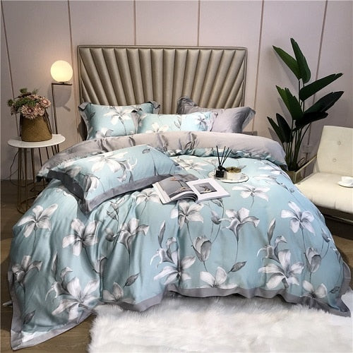 Silk 4Pcs Bedding Set Luxury