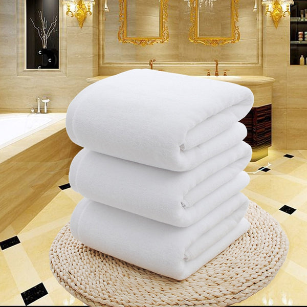 White Large Bath Shower Towel - HeadlineBedding